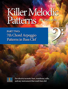 """Killer Melodic Patterns"" music theory and practical exercises by Bill Keis."